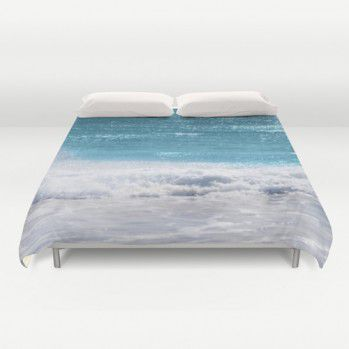Duvet cover turquoise ocean water #duvetcover #ocean #water #bedding #beachlovedecor