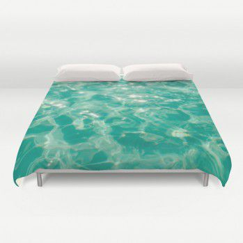Turquoise sparkly water duvet cover #water #turquoise #duvetcover #beachlovedecor