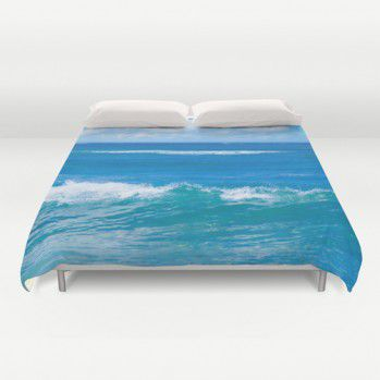 Blue ocean Water Duvet Cover #beachlovedecor #duvetcover #ocean