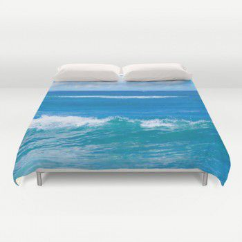 Blue ocean Water Duvet Cover #beachlovedecor #duvetcover #ocean