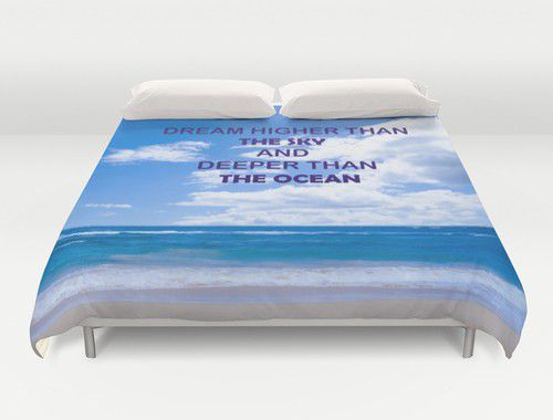 Ocean Duvet Cover #beachlovedecor #duvetcover #ocean