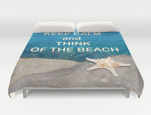 Duvet cover with starfish #duvet #duvetcover #beach #starfish #beachlovedecor