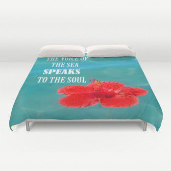 "Duvet Cover ""The voice of the sea speaks to the soul"""