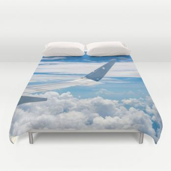 Duvet cover with airplane view #duvetcover #airplane #beachlovedecor