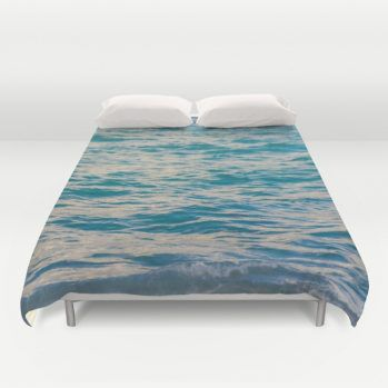 Turquoise deep ocean water duvet cover #ocean #duvetcover #beachlovedecor