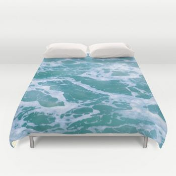 Turquoise marble ocean water duvet cover #duvetcover #ocean #beachlovedecor