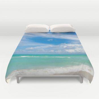 Miami ocean duvet cover #miami #duvetcover #ocean #beachlovedecor