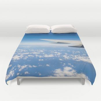 Travel duvet cover #duvetcover #beachlovedecor #sky