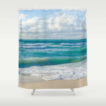 coconut-palm-tree-on-the-sandy-poipu-beach-in-hawaii-kauai-shower-curtains