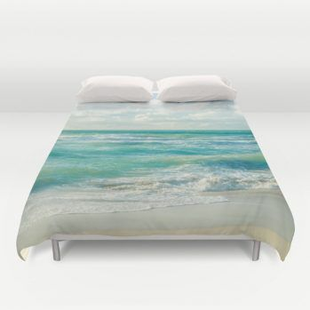 Duvet cover with Miami ocean view #duvetcover #miami #ocean #beachlovedecor