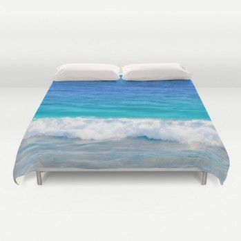 Blue – Teal ocean water Duvet Cover #beachlovedecor  #duvetcover #ocean