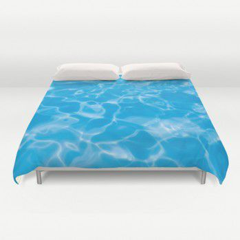 Blue  Water Duvet Cover #beachlovedecor  #duvetcover #ocean