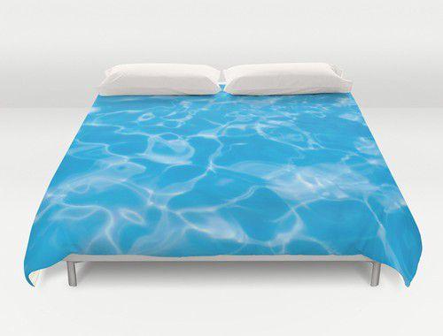 Blue  Water Duvet Cover #beachlovedecor  #duvetcover #ocean