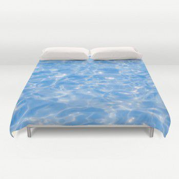 Blue Pool Water Duvet Cover #beachlovedecor #duvetcover #ocean