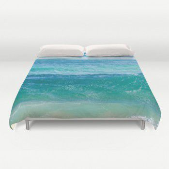 Deep Teal ocean Water Duvet Cover #beachlovedecor #duvetcover #ocean #water