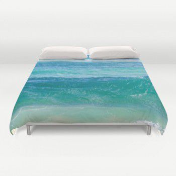 Deep Teal ocean Water Duvet Cover #beachlovedecor #duvetcover #ocean #water