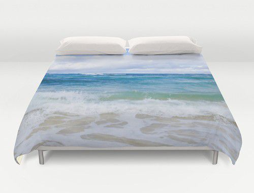 Hawaiian beach Duvet Cover
