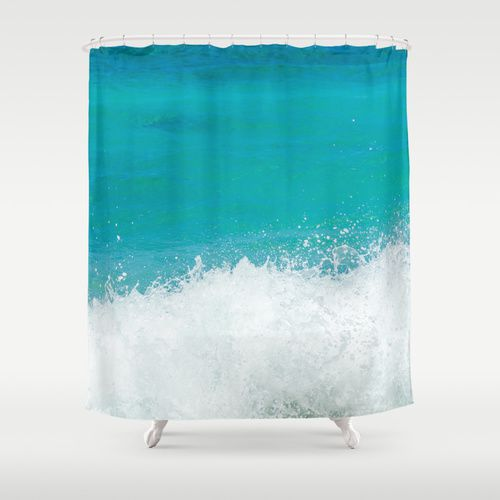 Shower Curtain With Teal Ocean 71 215 74 Inches