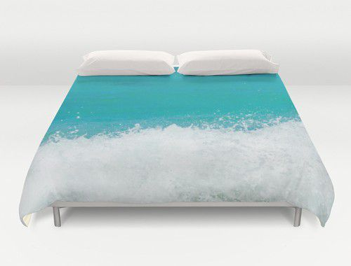 Teal ocean water Duvet Cover