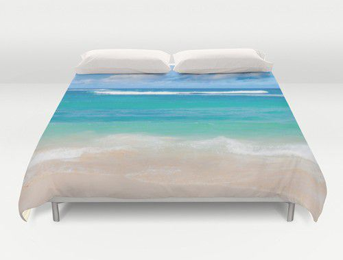 Tropical Hawaiian beach Duvet Cover