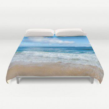 Tropical beach Duvet Cover #hawaii #ocean #tropical #beach #duvetcover #beachlovedecor