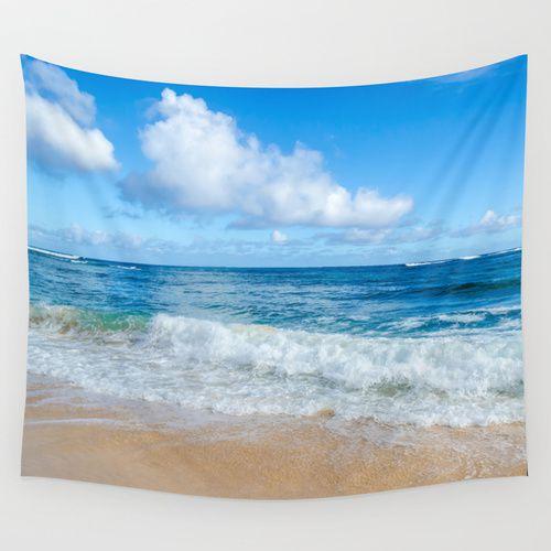 Wall Tapestry With Tropical Beach Beachlovedecor Com Beach Themed Home Decor