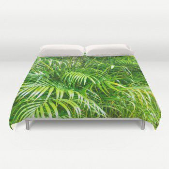 Duvet cover with palm leaves Duvet cover with palms #duvetcover #duvet #palms #beachlovedecor
