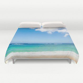 Hawaii ocean view Duvet Cover