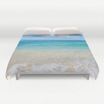 Hawaiian beach view Duvet Cover