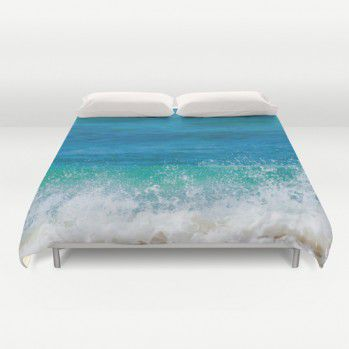 Tropical Ocean water Duvet Cover #duvetcover #ocean #tropical #beachlovedecor #homedecor