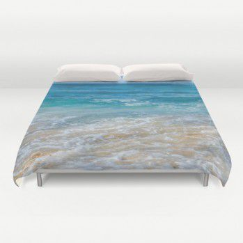 Turquoise ocean water Duvet Cover (TDK1) #duvetcover #ocean #homedecor #beachlovedecor #hawaii