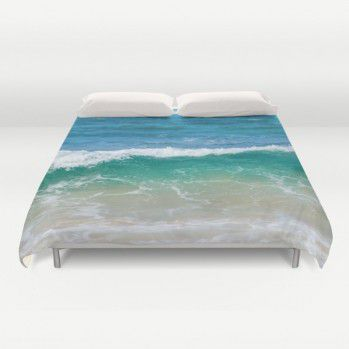 Tropical Ocean wave Duvet Cover  (TOC3) #duvetcover #beachlovedecor #ocean #turquoise