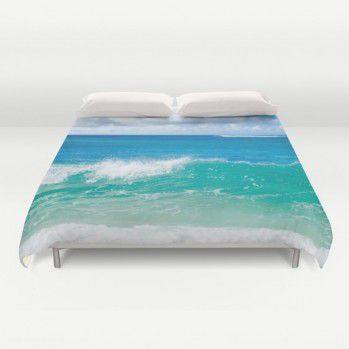 Tropical Ocean Duvet Cover (TOC2) #tropical #ocean #duvetcover #beachlovedecor #hawaii