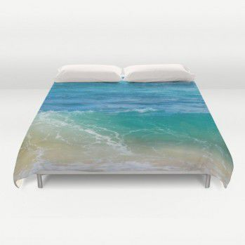 Tropical Ocean Duvet Cover (TOC1) #ocean #duvetcover #turquoise #beachlovedecor