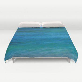 Deep ocean water Duvet Cover  #beachlovedecor #duvetcover #ocean