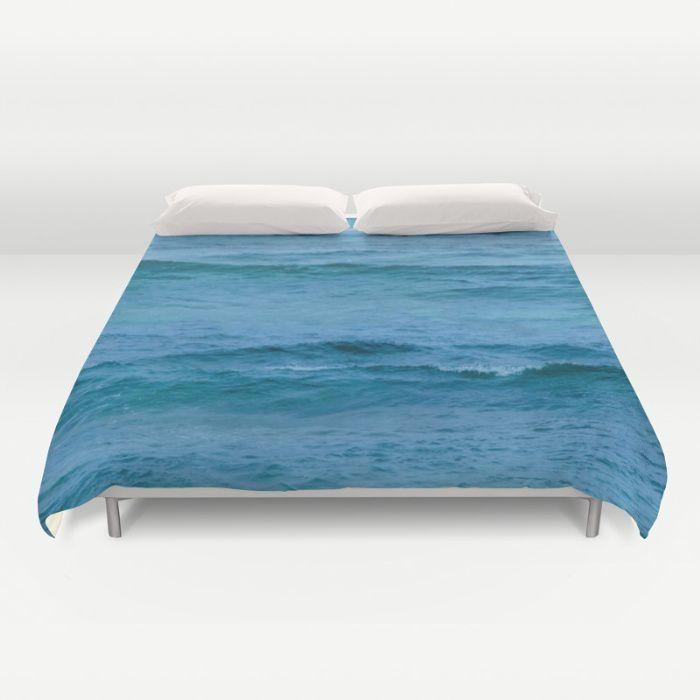 Deep Turquoise Ocean Water Duvet Cover Beachlovedecor Com