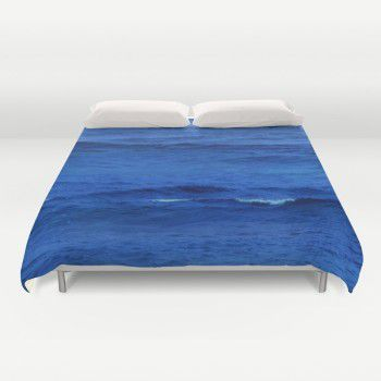 Deep blue ocean Duvet Cover  #beachlovedecor #duvetcover #ocean