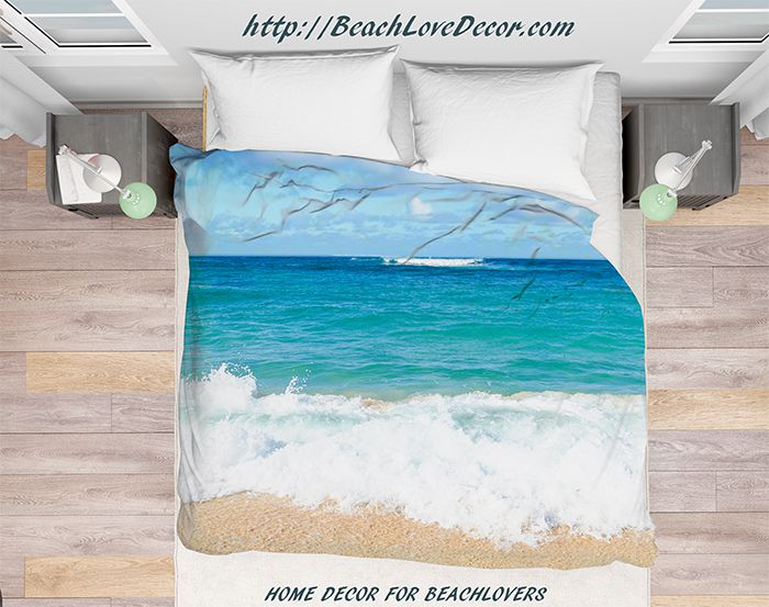 Hawaiian Ocean Water Duvet Cover Hdk1, Tropical Beach Bedding