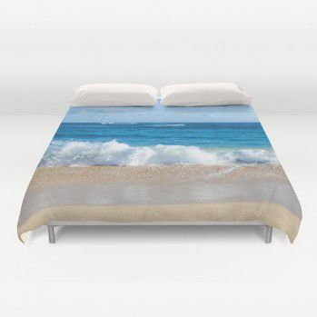 Tropical Hawaiian beach Duvet Cover (TPB2) #duvetcover #ocean #beachlovedecor #beach #tropical