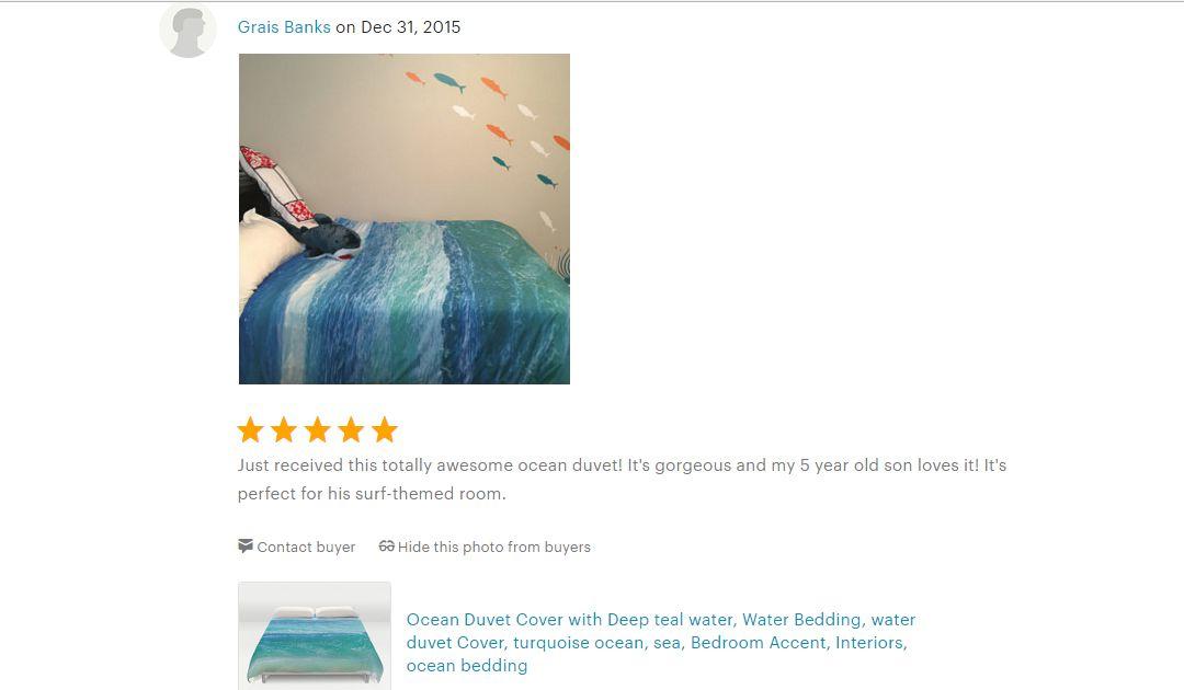 Deep Teal Ocean Water Duvet Cover Beachlovedecor Com