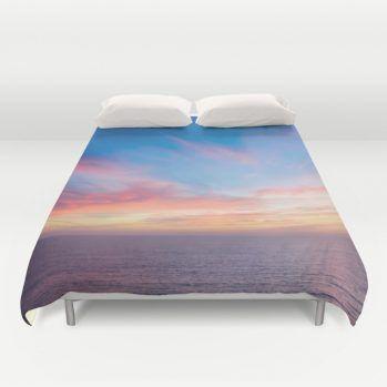 malibu-ocean-sunset duvet cover by beachlovedecor #ocean #sunset #duvetcover #beachlovedecor