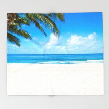 coconut-palm-tree-on-the-sandy-poipu-beach-in-hawaii-kauai-zgf-throw-blankets-21