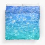 Blue - Teal Pool Water Duvet Cover #beachlovedecor #duvetcover #ocean
