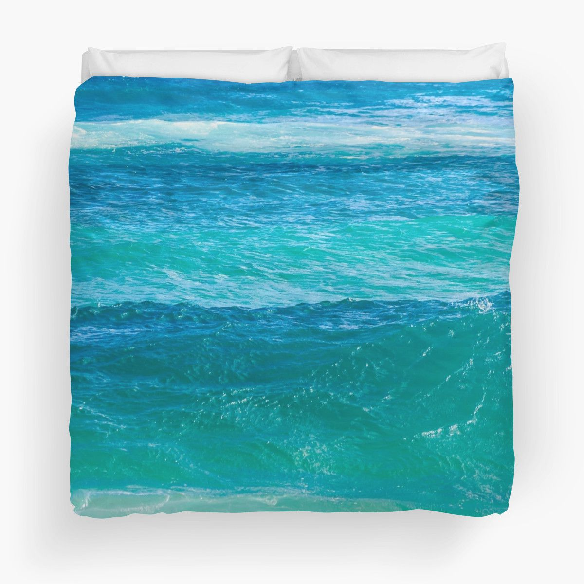 Deep Teal Ocean Water Duvet Cover Beachlovedecor Com