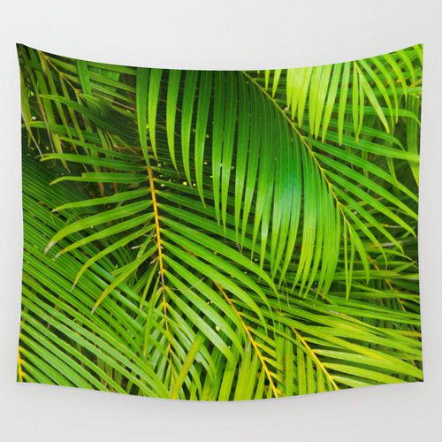 Big Palm Leaves Wall Tapestry With 6 Sizes Grommets