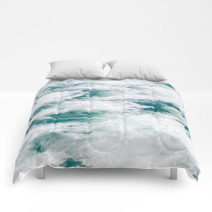 Marble Water Comforter Ocean Coastal Style Full King