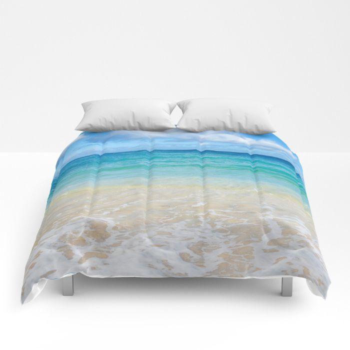 Hawaiian Beach Comforter Ocean Coastal Style Full King