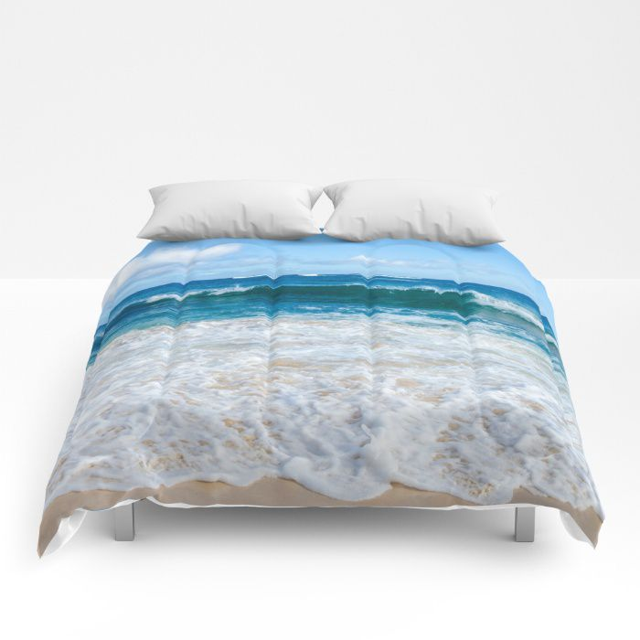 Blue Ocean Water Comforter Sea Bedding Beach Coastal Style Full King Queen Sizes