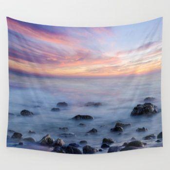 ocean-sunset-wall-tapestry #ocean #sunset #walltapestry #walldecor #beachlovedecor