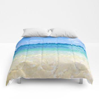 abstract Hawaiian beach comforters